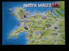 POSTCARD B45-6 MAP OF NORTH WALES