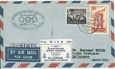 OLYMPICS: POSTAL HISTORY: AUSTRIA  LUXEMBOURG 1956