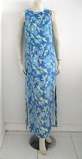 LILLY PULITZER BUTTERFLY & FLORAL FULL LENGTH COTTON LINEN DRESS  SIZE 8