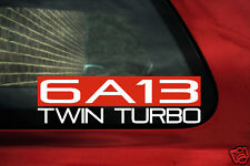 6A13 Twin Turbo sticker for Mitsubishi Galant / Legnum VR4 (6A13TT ,v6, 8th gen)