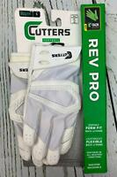 Cutters Gamer Padded Receiver Football Gloves EXTRA GRIP Youth Small White