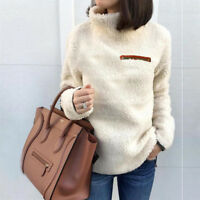 Fleece Fur Jacket Women's Ladies Outerwear Tops Winter Warm Hoodie Fluffy Coat
