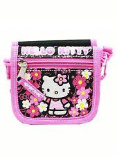 Licensed Hello Kitty Black w/Flowers Medium Shoulder Bag/Cross-Body/Purse/Wallet