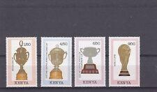 a133 - KENYA - SG530-533 MNH 1990 WORLD CUP FOOTBALL CHAMPIONSHIP  - TROPHIES