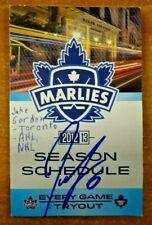 Jake Gardiner Toronto NHL AHL Autographed Signed Season Schedule