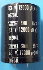Capacitors,12000UF,63VDC, Aluminum Electrolytic,Snap,SMH63VN123M35X45T2(200 pcs)