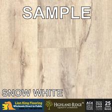 10cm Long Sample Offcut : Timber Look 12mm Laminate Floor - Snow White Sample