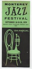 1970 Brochure from the 13th Annual Monterey Jazz Festival