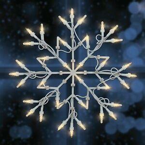 35 LED Warm White Snowflake Silhouette W/Timer