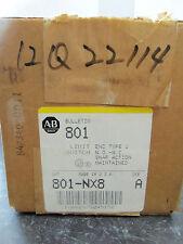 New Allen Bradley 801-NX8 Limit Switch Series A 600 Volts NIB