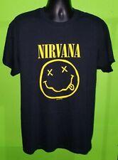 Vtg Nirvana 1992 90s Smiley Face T Shirt Flower Sniffin Cobain sz Large - NWT
