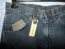Wrangler Indigo Blue Mens Jeans with Cord Details Size 30 Regular