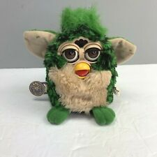 Vintage Tiger Electronics Furby 1998 Green Tan Working 70-800 SEE VIDEO Listing
