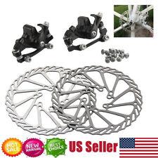 Bike Disc Brake Front & Rear Disc 160 mm Rotor Brake Kit for Mountain Bicycle US