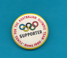 Funds For The Australian Olympic Team Rome 1960 Badge Scarce Top Condition