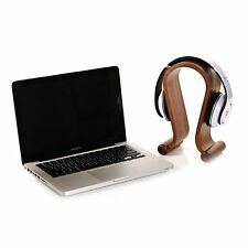 SAMDI Wooden Wood Headphone Display Stand Holder Hanger - Brown