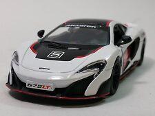 "Kinsmart 5"" McLaren 675LT Stripes Exclusive Edition Diecast Model Car 1:36-WHITE"