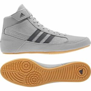 Adidas Havoc Wrestling Boots Adult Grey Boxing Shoes Sparring Trainers Ring Shoe