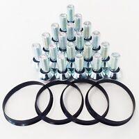 20x BMW Wheels To Vivaro Van Wobble Wheel Bolts Spigot Rings Kit M14x1.50