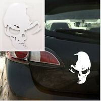 1Pcs Skull Car Motorcycle Sticker Label Skull Stickers Accessories White WG