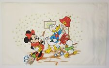 Vintage Mickey Mouse Club Single Pillowcase Minnie Donald Kids Walt Disney Nice
