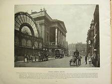 1896 VICTORIAN LONDON PRINT + TEXT ~ COVENT GARDEN THEATRE