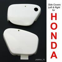 Honda Super Cub 50 C50 C65 C70 C90 CM90 CM91 White Side Cover Panel Pair