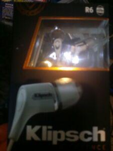 KLIPSCH R6 Oval In-Ear Headphones, White #1060399