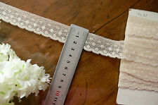 Vintage COTTON Lace - CREAM - 26mm wide - 4.6 Metre Length Made in England Flt6