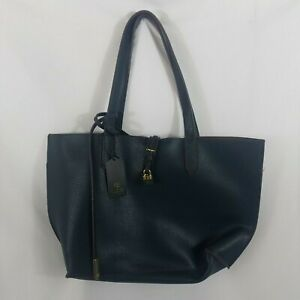 Tutilo Carry the Day Designer Handbag Feature Work Travel Computer Tote Navy NWT