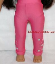 Pink Flower Studded Leggings Doll Clothes Made For 18 in American Girl Dolls