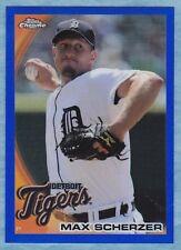 2010 Topps Chrome Baseball ~ Max Scherzer ~ Tigers ~ Blue Refractor #'d /199