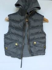 URBAN BEHAVIOR Kids Boys Sz 5-6 Gray Hooded Sleeveless Puffer Jacket Vest