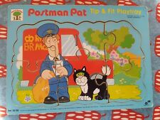 Vintage/Collectable/Rare Postman Pat 1995 Tip and Fit Playtray-Wooden Puzzle