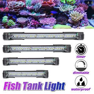 100-240V Aquarium Fish Tank Lights Waterproof Full Spectrum Plants Marine  #@U