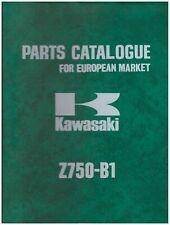 Catálogo Piezas de Repuesto - Catalogue - Kawasaki Z750-B1 Edizione 1975