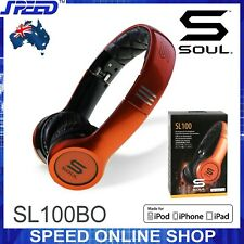 SOUL SL100BO by Ludacris - Ultra Dynamic On-Ear Headphones - (Orange & Black)