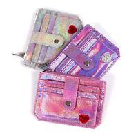 Slim Money Credit Card Holder ID Business Women Laser Shining PU Leather Wallet