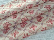 Antique/ vintage French floral printed cotton fabric faded shabby chic dolls