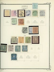 PORTUGUESE COLONIES - ANGOLA Scott Specialty Album Page Lot #2 - SEE SCAN - $$$
