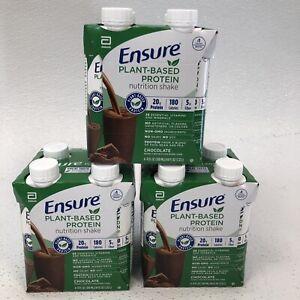 Ensure 100% Plant-Based Vegan Chocolate Protein Shakes (11oz) - 12 (Exp 08/2021)