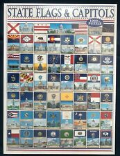 State Flags and Capitols White Mountain 1000 Piece Jigsaw Puzzle Factory Sealed