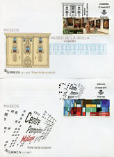 Spain 2017 FDC Museums La Rioja Centre Pompidou 3v Set on 3 Covers Art Stamps