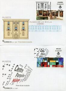 Spain 2017 FDC Museums La Rioja Centre Pompidou 3v Set on 3 Covers Art Stamps