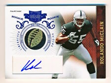 2010 Plates & Patches Rolando McClain Game Used Ball NFL Logo Patch Auto Rc 3/3