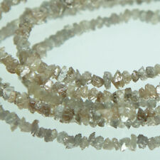 15.33 Carats Natural Rare! Brownish Gray Color Genuine Top Diamond String Beads