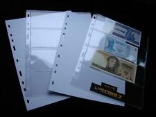 5 Pages for Schulz Banknote Albums Note Collection Collector Album M-4