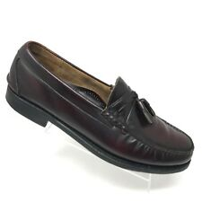 Johnston Murphy Tassel Loafer Ski Moc II Burgundy Leather Mens Shoe SIZE 12 C/A