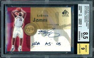 Lebron James 2005-06 SP Signature Inkredible Inkscriptions Auto /50 BGS 8.5 Rare