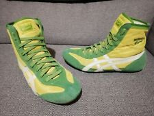 SIZE US 10 - yellow/green asics onitsuka tiger wrestling shoes boots 81 rare